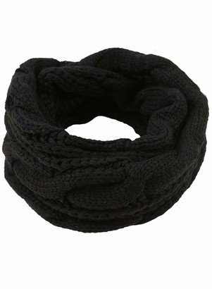 LOSRLY Women's Classic Fashion Knit Warm Soft Elegant Pure Color Circle Loop Scarf