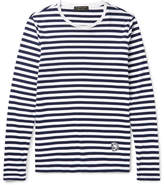 Burberry Runway Striped Cotton-jersey T-shirt - Navy