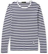 Burberry Runway Striped Cotton-Jersey T-Shirt