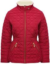 M&Co Petite borg collar quilted jacket