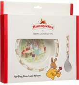 Bunnykins Running Design Feeding Bowl And Spoon