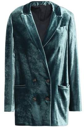 Brunello Cucinelli Double-breasted Velvet Blazer