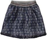 Scotch & Soda Kids Jersey Skirt W/Organza Overlay (Kid) - Night-6