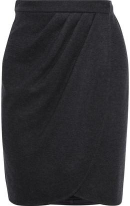 Max Mara Pleated Wool-jersey Wrap Skirt