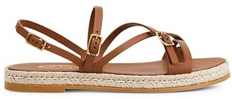 Tod's Leather Espadrille Platform Sandals