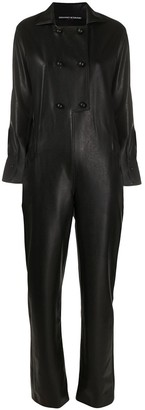 Ermanno Scervino Faux Leather Jumpsuit