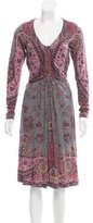 Etro Wool-Blend Midi Dress