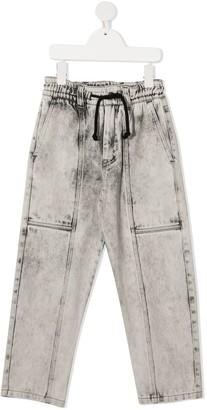Andorine Stonewashed Jogging-Style Jeans