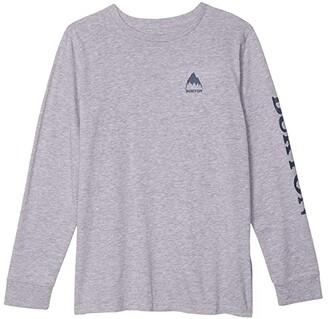 Burton Elite Long Sleeve T-Shirt (Little Kids/Big Kids) (Gray Heather) Kid's Clothing