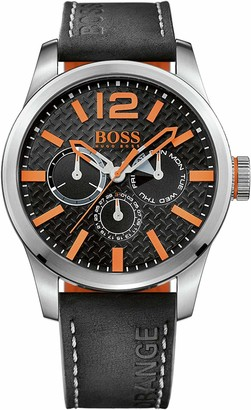 HUGO BOSS Orange Men's Analogue Quartz Watch with Leather Strap 1513228