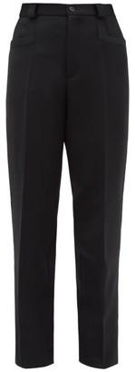Maison Margiela Tailored Wool Straight-leg Trousers - Womens - Black