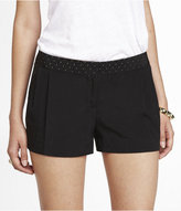 Express 2 1/2 Inch Pleated Studded Tuxedo Shorts