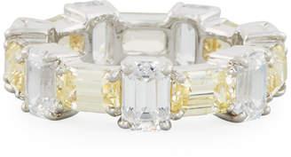 FANTASIA Alternating Emerald-Cut CZ Band Ring