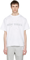 Satisfy White run Away Moth Eaten T-shirt
