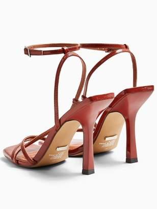 Topshop Ritz Strappy High Heels - Rust