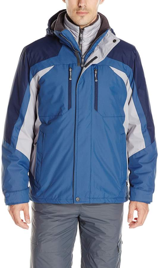 ZeroXposur Men's Force 3 in 1 Systems Jacket with Inner Puffer Jacket