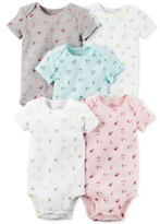 Carter's Baby Girls' 5-Pk. Floral-Print Bodysuits