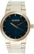 Nixon A160 Silver-Tone & Navy Cannon Watch