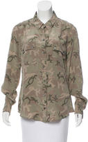 Equipment Silk Camouflage Print Top