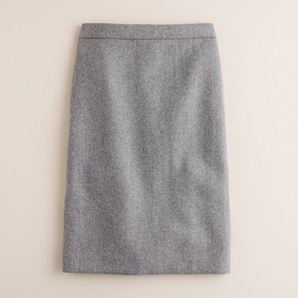 J.Crew No.2 pencil skirt in speckled wool