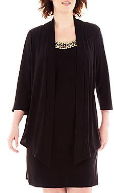 JCPenney Bead-Neck Dress with Jacket - Plus