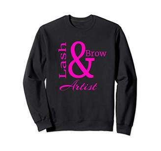 Lash and Brow Groomer Makeup Artist Esthetician Microblading Sweatshirt