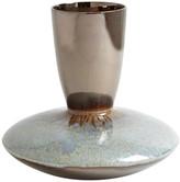 Global Views Marta's Vase, Bronze Reactive Blue, Low