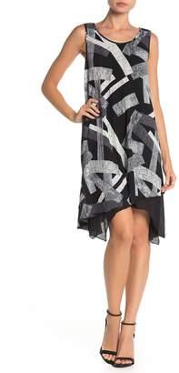 Papillon Geo Print Sleeveless Midi Dress