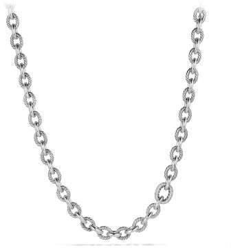 David Yurman Large Oval Link Necklace With Diamonds