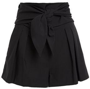 IRO Knotted Stretch-wool Shorts