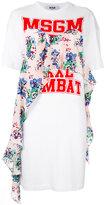 MSGM logo print T-shirt dress - women - Cotton - L