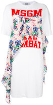 MSGM logo print T-shirt dress