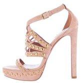 Alaia Embellished Laser Cut Sandals