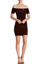 Dress the Population Burgundy Sequin Bodycon Dress