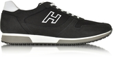 Hogan Black Fabric and Suede Sneaker