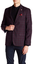 Ben Sherman Hanwell Plaid Two Button Notch Lapel Blazer