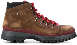 Prada lace-up hiking boots