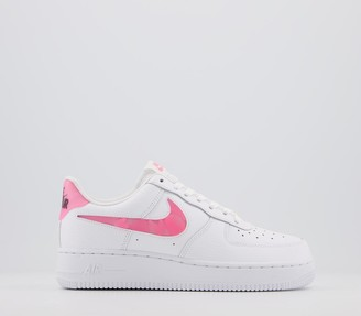 Nike Force 1 07 Trainers White Sunset Pulse Black Clear