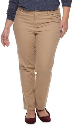 Just My Size Plus Size Straight-Leg Jeans