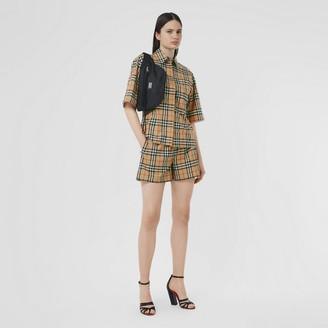 Burberry Vintage Check Stretch Cotton Shorts