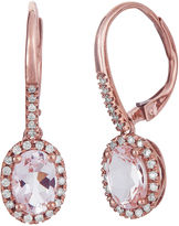 FINE JEWELRY LIMITED QUANTITIES Genuine Morganite and 1/8 CT. T.W. Diamond Rose Gold Earrings