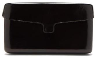 Lemaire Cartridge Medium Leather Clutch - Black