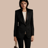 Burberry Stretch Wool Tuxedo Jacket