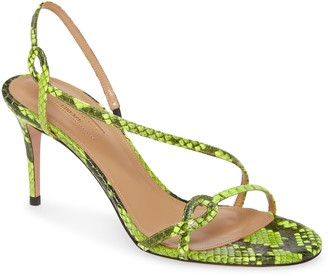 Aquazzura Serpentine Strappy Snake Embossed Sandal