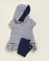 Juicy Couture (Toddler Girls) Two-Piece Striped Hooded Top & Leggings Set
