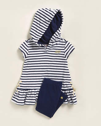 Juicy Couture Toddler Girls) Two-Piece Striped Hooded Top & Leggings Set