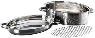 Baccarat Gourmet Stainless Steel Oval Roast & Steam 3 Piece Set