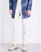 Lardini Soho-fit Straight Cotton-blend Trousers