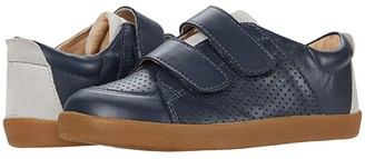 Old Soles Double Dash (Toddler/Little Kid) (Navy/Grey Suede) Boy's Shoes