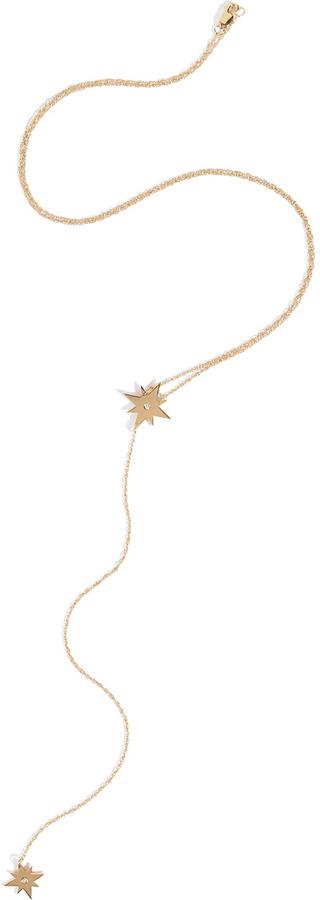 Jennifer Zeuner Jewelry Gia Lariat Necklace in Yellow